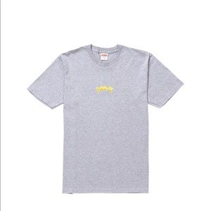 Supreme Fronts Tee Heather Grey SS19